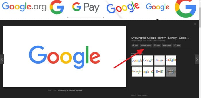 How to Enable View Image Button on Google Images