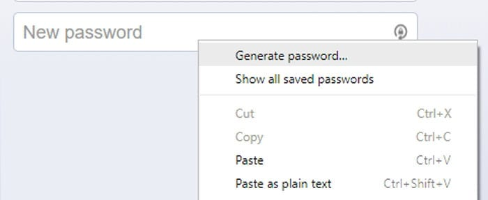 How to Activate Password Generator on Google Chrome