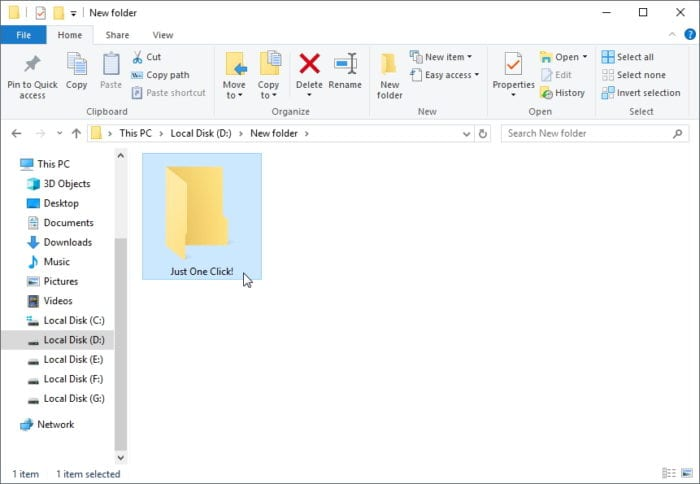 How to Open File or Folder in One Click