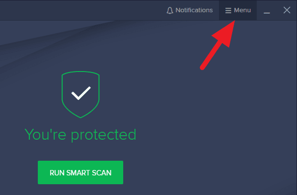 Avast menu - How to Close Avast Antivirus PC: 9 Steps 7