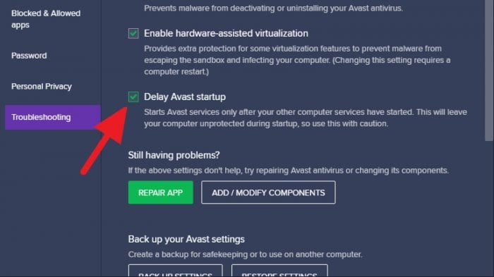 Delay Avast startup - How to Stop Avast from Running at Startup on Windows 13