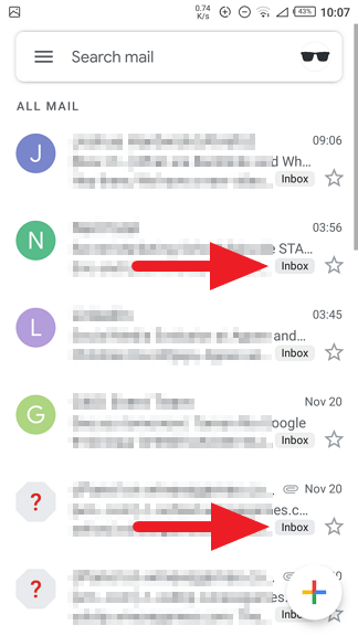 Emails now in - How to Find Archived Email on Gmail Android 15