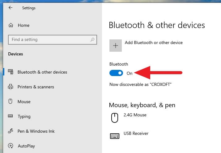 Enable Bluetooth - How to Auto-Lock Windows 10 PC When You Leave 9