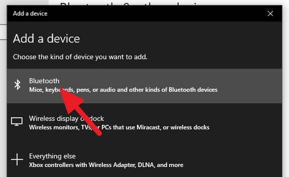 Select Bluetooth - How to Auto-Lock Windows 10 PC When You Leave 13