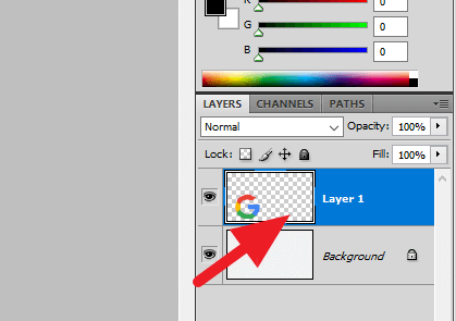 Select layer - Quickest Way to Center an Image in Photoshop 9
