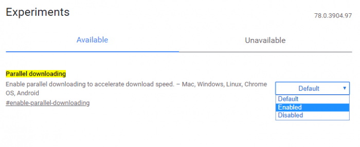 enabling parallel downloading - 7 Simple Tips to Accelerate Chrome Download Speed 9