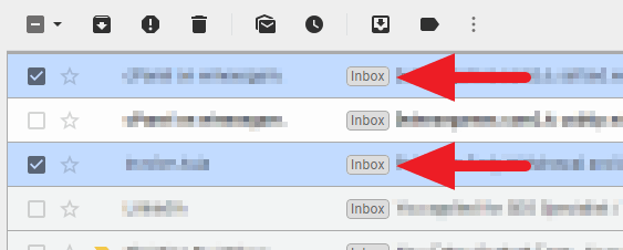 marked as - How to Find Archived Email on Gmail Desktop 13