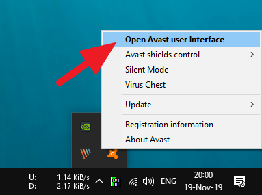 open Avast user interface - How to Close Avast Antivirus PC: 9 Steps 5