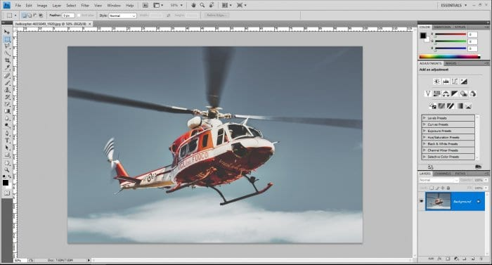 Helicopter photo on Photoshop - How to Flip Image in Photoshop (Fastest Way) 5