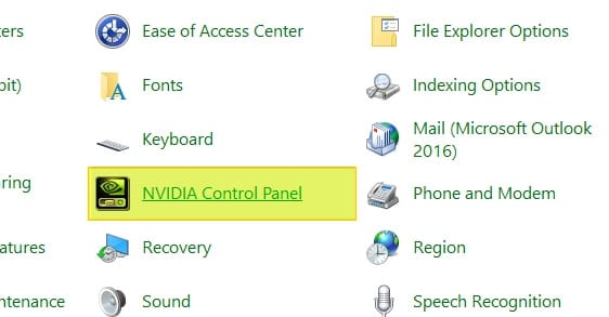 NVIDIA Control Panel on Windows Control Panel - How to Access Missing NVIDIA Control Panel Without Reinstall Driver 9