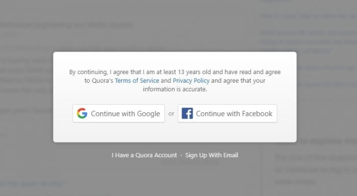 Quora restriction - How to Open Quora's Link Without Login 3
