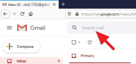 Search bar on Gmail - How to Mark All Unread Emails as Read in Gmail 5