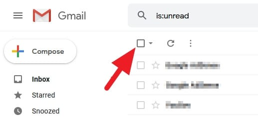 Select all emails - How to Mark All Unread Emails as Read in Gmail 9