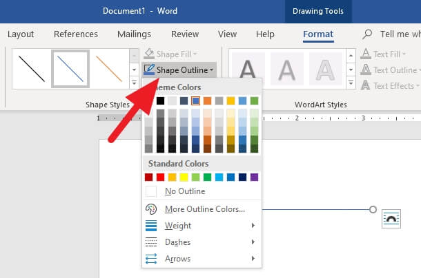 Shape Outline - How to Create a Straight Line in Microsoft Word Effortlessly 11