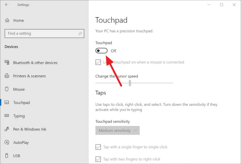 Touchpad off - How to Disable Touchpad in Windows 10 Laptop 11