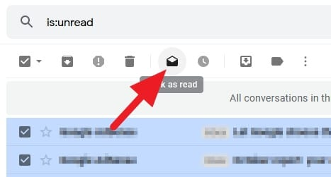 mark as read - How to Mark All Unread Emails as Read in Gmail 7
