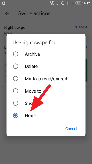 none - How to Disable Swipe to Archive in Gmail 17