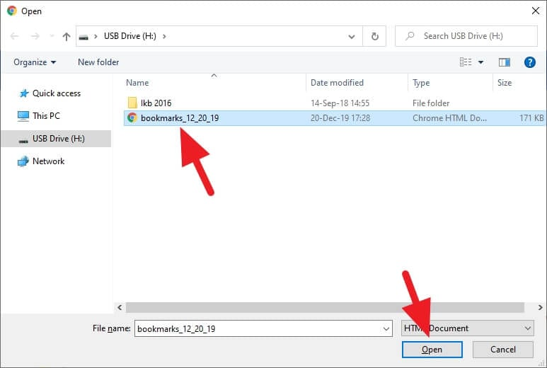 open bookmarks - How to Export Chrome Bookmarks to a Flash Drive 19