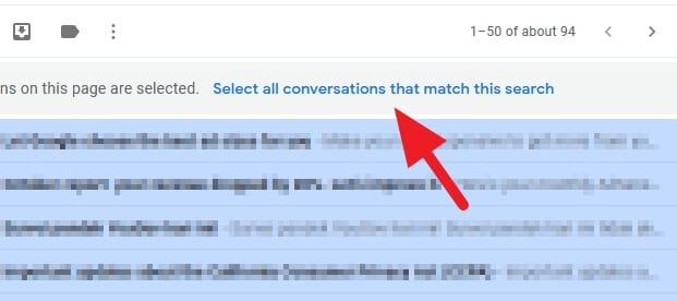 select all conversations that match this search - How to Mark All Unread Emails as Read in Gmail 11