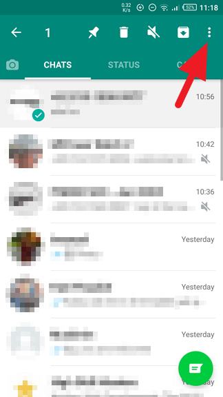 More options - How to Archive / Unarchive WhatsApp Messages 17
