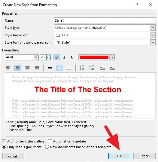 OK - How to Add Heading in Microsoft Word 23
