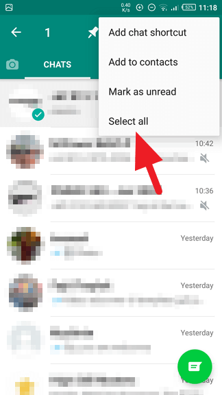 Select all - How to Archive / Unarchive WhatsApp Messages 19