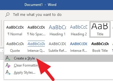 create style - How to Add Heading in Microsoft Word 19