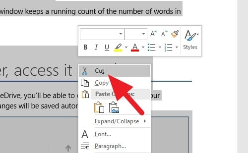 cut - How to Change Page Order in Microsoft Word 9