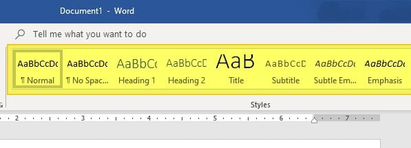 select heading - How to Add Heading in Microsoft Word 9