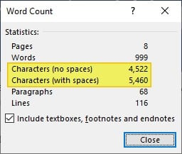 Characters - How to Count Characters in Word Document 11