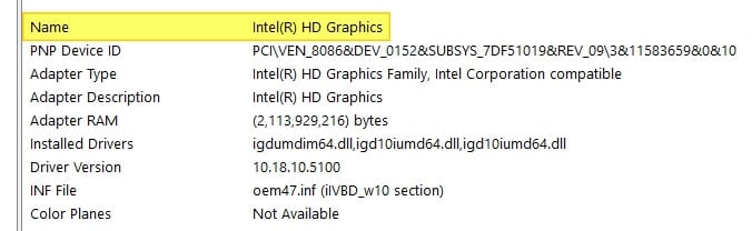 Name - How to Check Intel HD Graphics Version 21