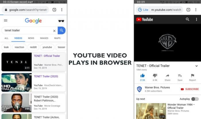 No Youtube app - Prevent Youtube App from Opening When Click Youtube Link 1