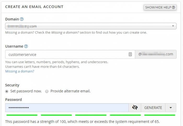 domain username password - How to Create Email Account in cPanel 9