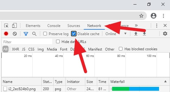 network disable cache - How to Prevent Chrome from Storing Cache 11
