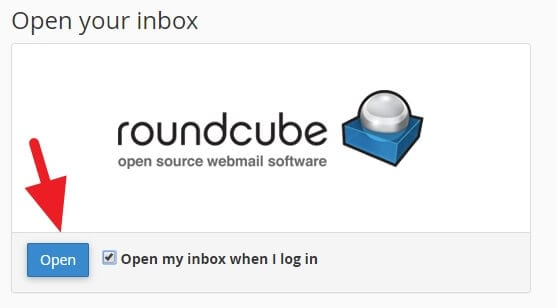 open roundcube - How to Create Email Account in cPanel 15
