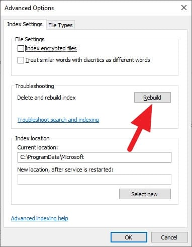 Rebuild - How to Exclude Folders from Windows Start Search 13