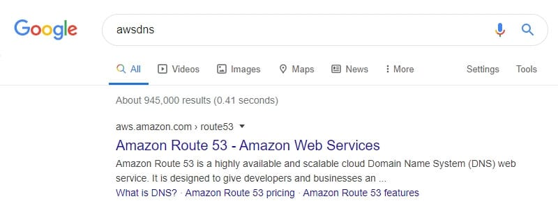 awsdns amazon - How to See What Hosting Service Used on a Website 11