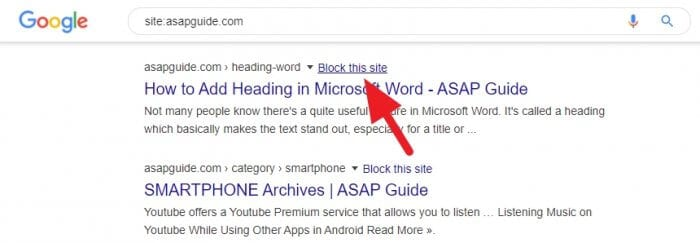 block this site - How Block Website from Google Search Results 3