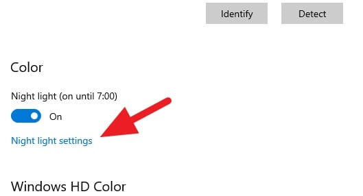 Color - How to Enable Night Light on Windows 10 (Reduce Blue Radiation) 6