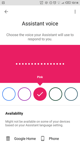 Select voice - How to Change Google Assitant Voice on Android 11