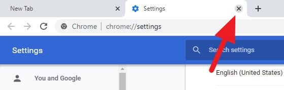 close tab 1 - How to Change Chrome PC Default Download Location 8