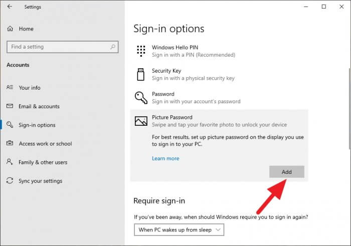picture password add - How to Enable Picture Password on Windows 10 11