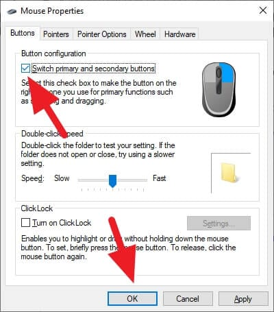 switch primary and secondary buttons - How to Switch Mouse Button for Left-Handed on Windows 13