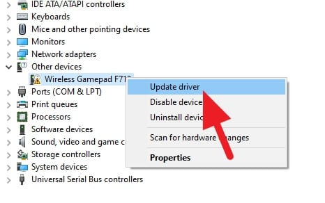 update driver f710 - How to Fix Logitech F710 Can't Connect to Windows 10 7