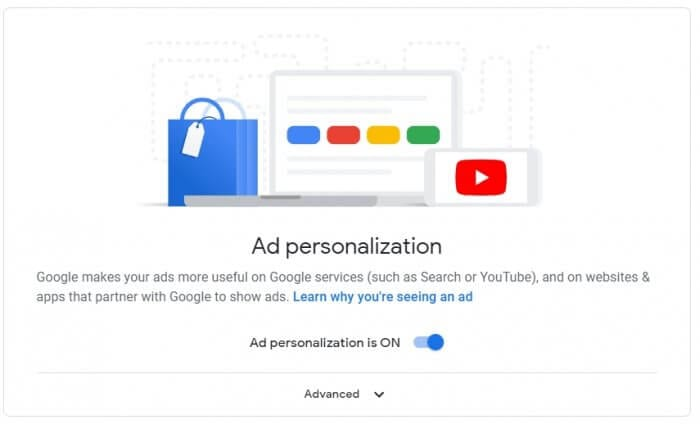 Ad personalization is ON - How to Make Google Advertisements Relevant to You 5