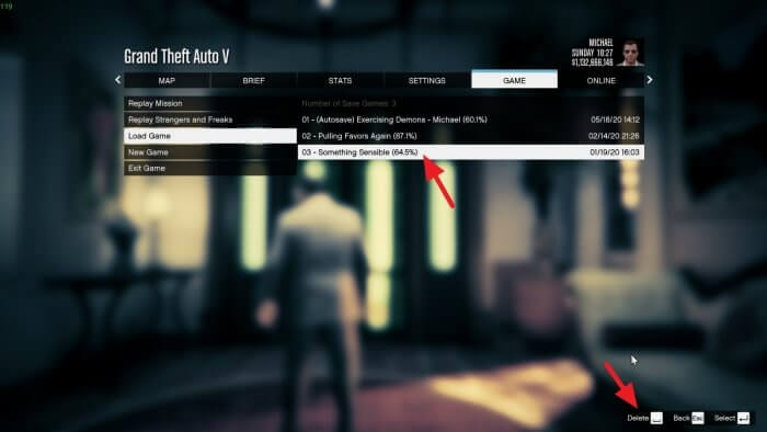 Delete save - How to Delete Save Game Data on GTA V 7
