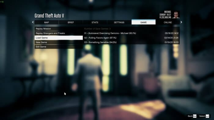 Game Load Game - How to Delete Save Game Data on GTA V 7