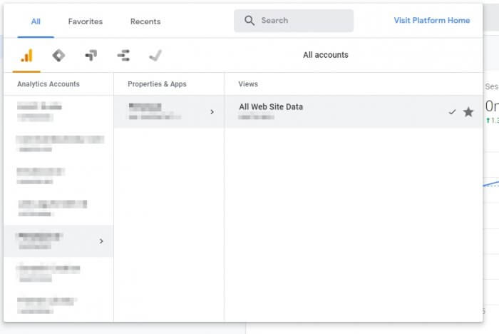Select website data - How to Add a New Goal on Google Analytics 5