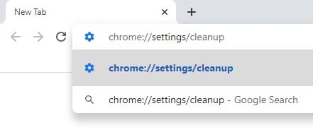 chrome cleanup address 1 - How to Scan Google Chrome from Malware 4