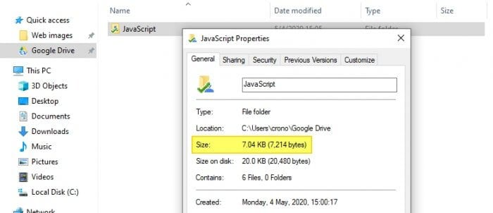 size backup and sync - How to See Folder Size on Google Drive: 3 Methods 3